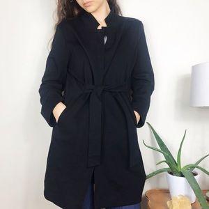 Eileen Fisher Stretch Tie Front Jacket Black